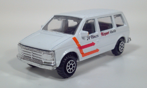 road champs 1984 1985 1986 1987 dodge caravan plymouth voyager van diecast scale model toy
