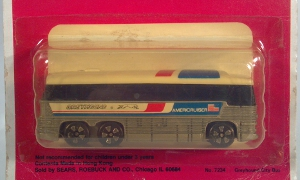 playart mci motor coach industries mc-8 greyhound city bus americruiser sears road mates no 7234 die cast n gauge 1:160 1:156 scale model intercity coach