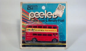 vintage playart peelers routemaster double decker bus fastwheels woolworth die cast scale model bus