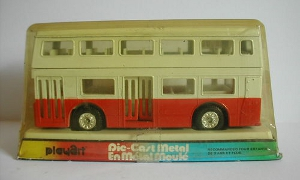 playart londoner double decker white red bus diecast scale model toy bus