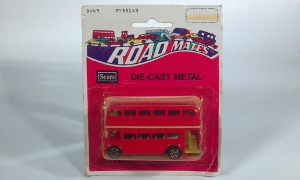 vintage playart sears road mates die cast metal double decker no 7162 scale model bus toy