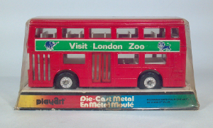 playart the londoner double decker bus visit london zoo diecast scale model toy