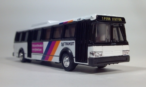 road champs 57002 njt www.njtransit.com new jersey transit 1776 penn station flxible metro city transit bus ho gauge 1:87 scale model die cast bus